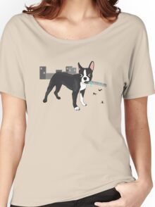Attack of the Colossal Boston Terrier!!! Women's Relaxed Fit T-Shirt