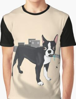 Attack of the Colossal Boston Terrier!!! Graphic T-Shirt