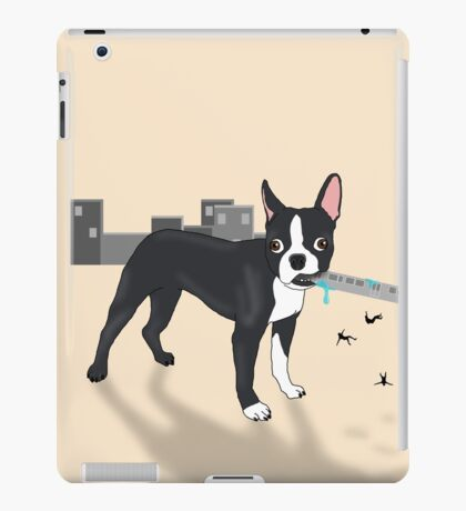 Attack of the Colossal Boston Terrier!!! iPad Case/Skin