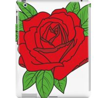 Rose tattoo - red iPad Case/Skin