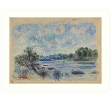 Auguste Renoir - Landscape at Pont-Aven 1892 Impressionism  Landscape Art Print