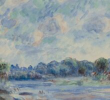 Auguste Renoir - Landscape at Pont-Aven 1892 Impressionism  Landscape Sticker
