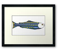 Scandinavian fish Framed Print