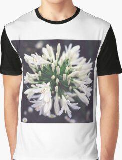 White Agapanthus Graphic T-Shirt