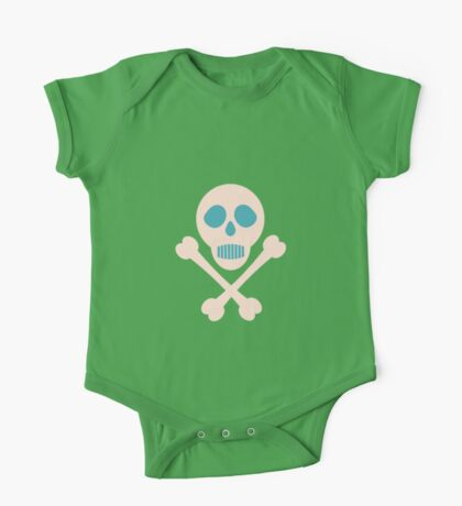 Pirate skull and bones One Piece - Short Sleeve