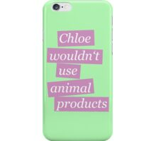 Max' bathroom comment (pink) iPhone Case/Skin