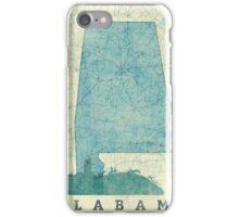 Alabama Map Blue Vintage iPhone Case/Skin