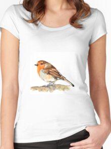 Robin,birds,wildlife Women's Fitted Scoop T-Shirt