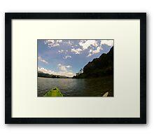 Kayaking Asia Framed Print