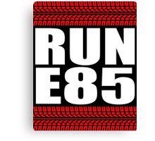 RUN E85 tire tread Canvas Print