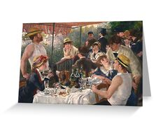 Auguste Renoir - Luncheon of the Boating Party 1880-1881 Woman Portrait Greeting Card