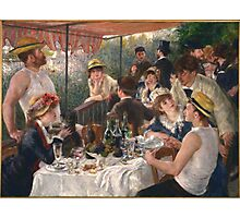 Auguste Renoir - Luncheon of the Boating Party 1880-1881 Woman Portrait Photographic Print