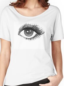 woman eye Women's Relaxed Fit T-Shirt