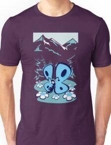 blue mountain butterfly Unisex T-Shirt