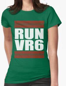 RUN VR6 tread Womens Fitted T-Shirt
