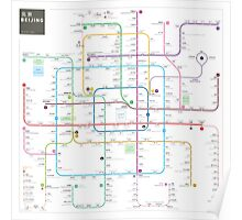 Beijing subway map Poster