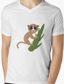 Lemur Mens V-Neck T-Shirt