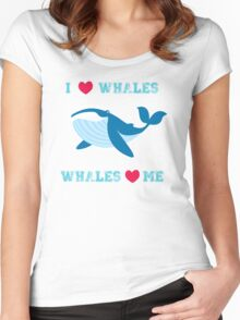 I love whales,whales loves me Women's Fitted Scoop T-Shirt