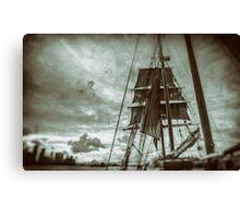 Stormy Sunset Sails - Sydney Harbour - Australia Canvas Print