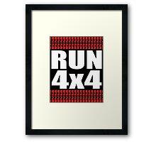RUN 4x4 tread Framed Print
