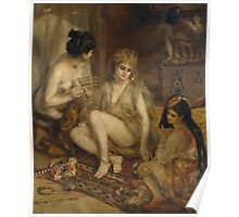 Auguste Renoir - Parisiennes in Algerian Costume or Harem 1872 Woman Portrait Poster