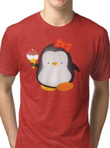 Ice cream penguin Tri-blend T-Shirt