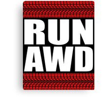 RUN AWD tread Canvas Print
