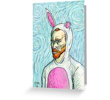 Van Gogh bunny costume Greeting Card