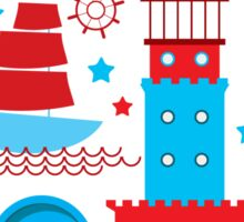 Sea and pirate icons Sticker