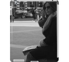 Woman on mobile phone in Victoria iPad Case/Skin