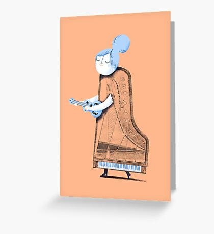 Lady in G Major Greeting Card