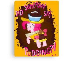 Pinkie Pudding Pie Canvas Print