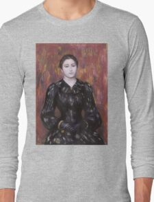 Auguste Renoir - Portrait of Mme. Paulin 1885 - 1890 Woman Portrait Long Sleeve T-Shirt