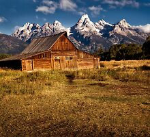 Morman Row Barn - Grand Tetons National Park, Wyoming by Kathy Weaver