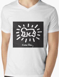 Keith Haring children Mens V-Neck T-Shirt