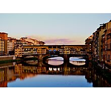 Souvenir from Florence - bridge Photographic Print