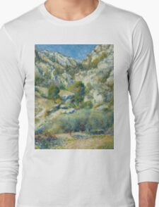 Auguste Renoir - Rocky Crags at L'Estaque 1882 Impressionism  Landscape Long Sleeve T-Shirt