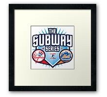 THE SUBWAY SERIES YANKEES X METS Framed Print