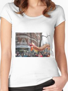 Chinese New Year London Women's Fitted Scoop T-Shirt