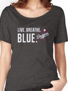 DODGERS LIVE.BREATHE.BLUE Women's Relaxed Fit T-Shirt