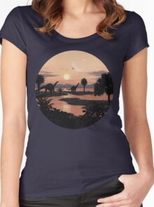 Jurassic Beach Women's Fitted Scoop T-Shirt
