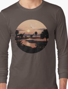 Jurassic Beach Long Sleeve T-Shirt
