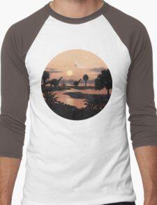 Jurassic Beach Men's Baseball ¾ T-Shirt
