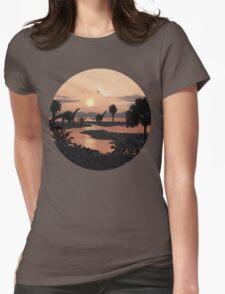 Jurassic Beach Womens Fitted T-Shirt