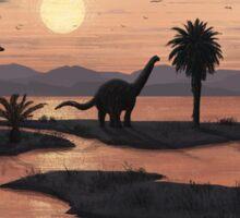 Jurassic Beach Sticker
