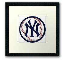 NEW YORK YANKEES INSIDE THE BALL Framed Print