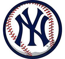 NEW YORK YANKEES INSIDE THE BALL Photographic Print
