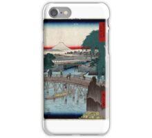 Ikkoku Bridge In the Eastern Capitol - Hiroshige Ando - 1858 - woodcut iPhone Case/Skin