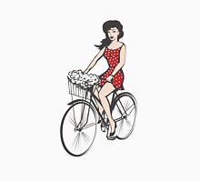 Girl on a bicycle Unisex T-Shirt
