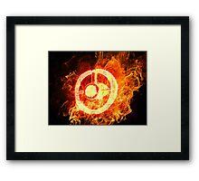 u2 360 burning Framed Print